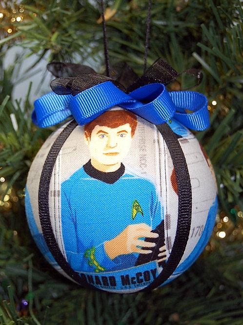 "Star Exploration Doctor - blue ornament -  3"""