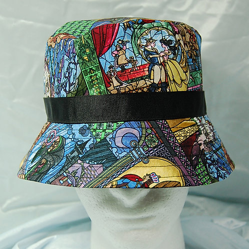 Bucket Hat made with licensed Beauty & The Beast cotton print fabric