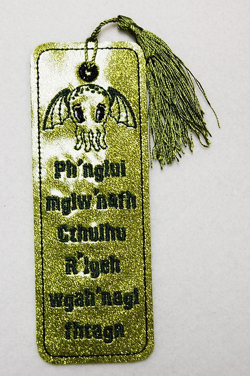 Cutie Cthulhu embroidered bookmark