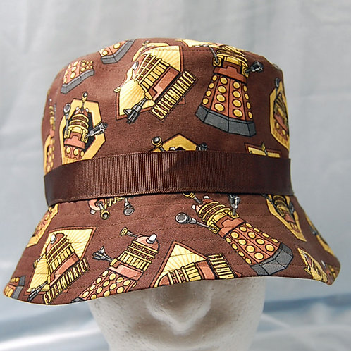 Bucket Hat made with licensed Dr. Who-Daleks cotton print fabric