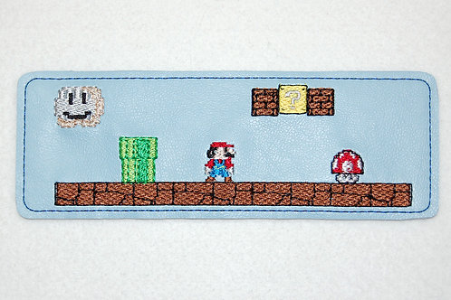 Plumber Brothers game embroidered bookmark