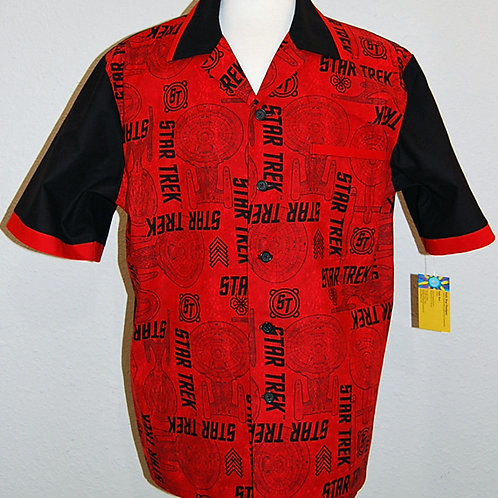 Star Travel red/black shirt (made from Licensed cotton print fabric)