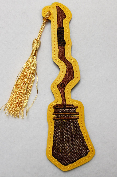 Wizard Badger House Game Broom embroidered bookmark