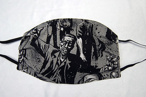 Zombies adult face covering - 3 layer
