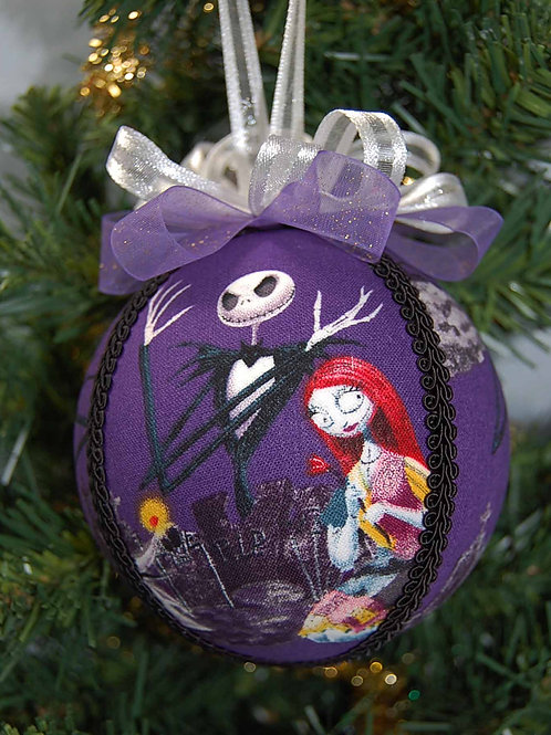 """Skull Head/Patch Girl ornament - 4"""" (made from Licensed cotton print fabric)"""