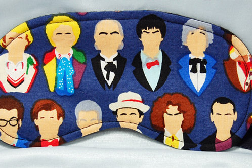 Dr. Space/Doctors sleep mask (made w/Licensed cotton print fabric)