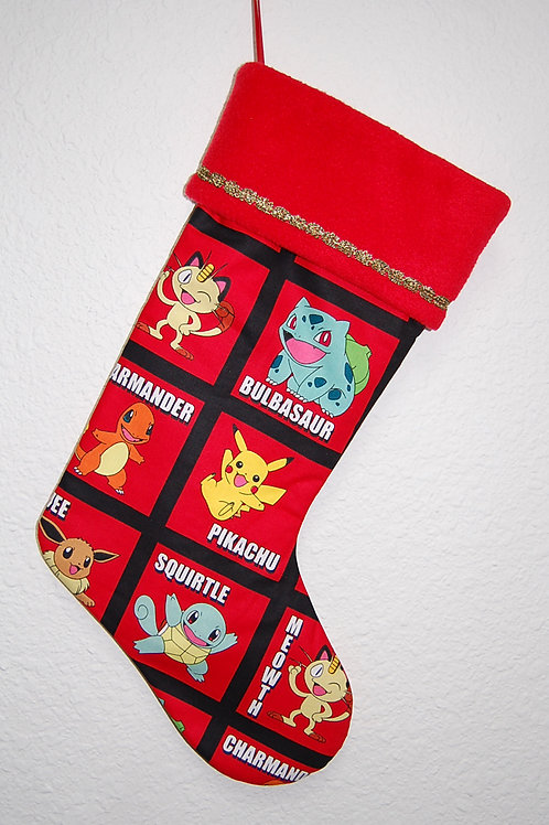 Pokemon Christmas stocking-made w/Licensed cotton print fabric