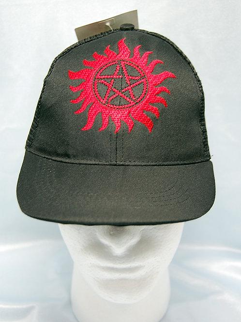 Anti-Demon symbol cap