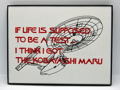 """Star Explorer Training Exercise/Life - 6 x 8"""" framed embroidered art"""
