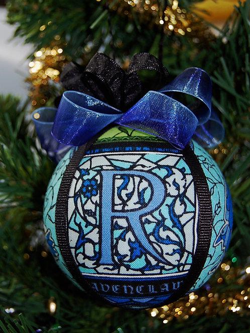 "Wizard House Ornament - Raven/blue - 3"""