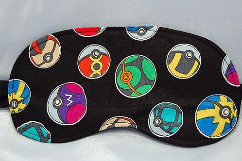 Sleep Mask made with licensed Pokemon Pokeball cotton fabric