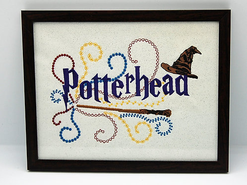 "Wizard Fan - 7 x 9"" framed embroidered art"