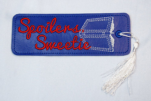 Spoilers Sweetie embroidered bookmark