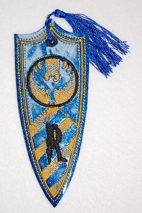 Wizard Raven House Banner embroidered bookmark (glitter)
