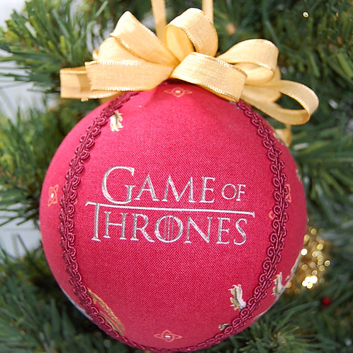 """Ornament made with licensed Game of Thrones fabric/styrofoam ball - 4"""""""