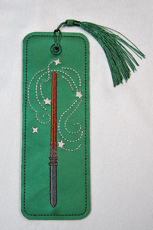 Wizard Wand (green/silver) bookmark