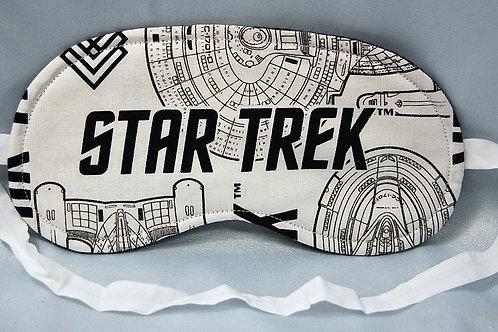Star Travel sleep mask white/black - made w/Licensed cotton print fabric)