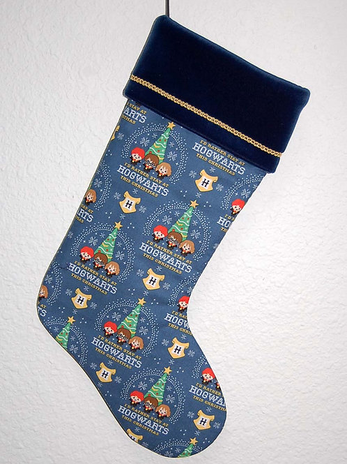 Wizard School Christmas stocking-made w/licensed cotton print fabric