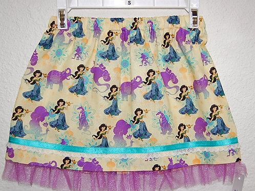 Skirt made with licensed Princess Jasmine cotton print fabric