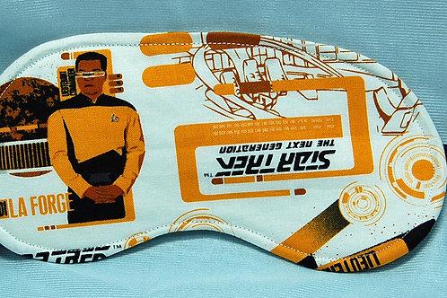 Sleep Mask made with licensed Star Trek Next Generation cotton fabric