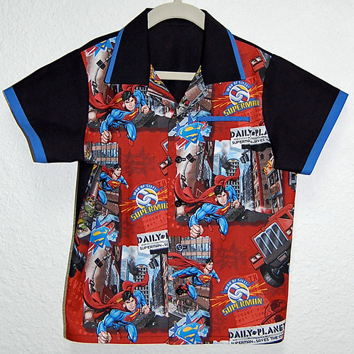 Child's Shirt made with licensed Superman cotton print fabric