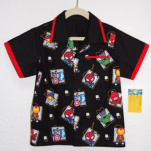 Kawaii hero characters child shirt (made from Licensed cotton print fabric)