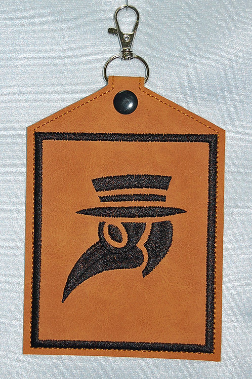 Plague Doctor/brown - Vaccination Card Holder