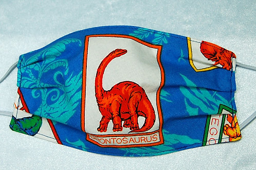 Brontosaurus child face covering (with adjustable elastic straps)