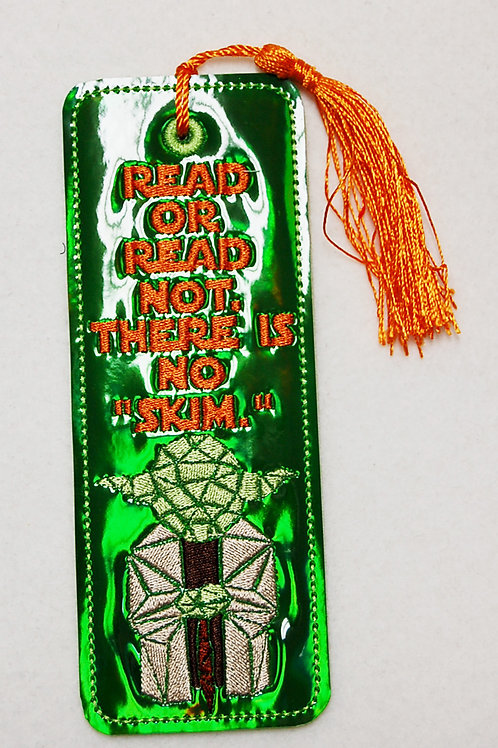 Read or Read Not embroidered bookmark