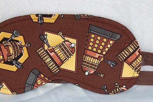Sleep Mask made with licensed Dr. Who Daleks cotton fabric