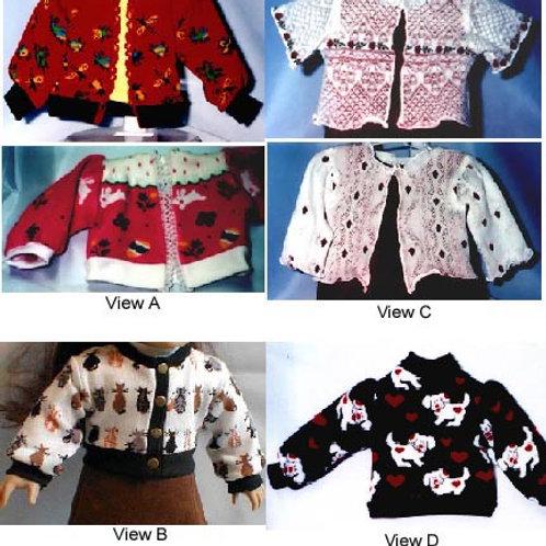 "P1021-Sock Sweater pattern for 10"", 14"" & 18"" (slim & chubby) dolls"