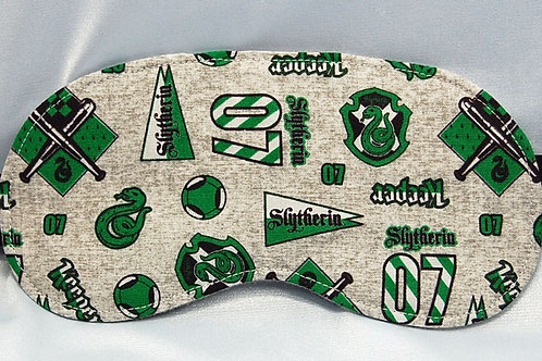 Wizard Student Snake House licensed cotton fabric sleep mask