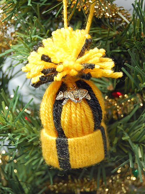Wizard House - Badger gold/grey hat ornament/Party favor
