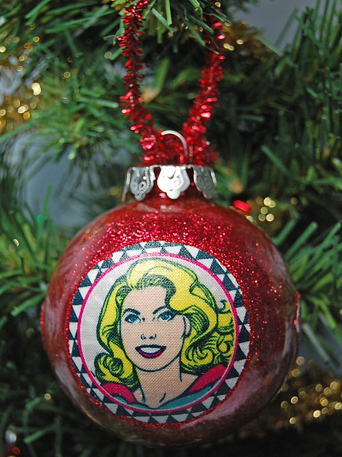 "Super Girl ornament - 3"""