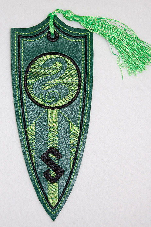 Wizard Snake House Banner embroidered bookmark (matte)