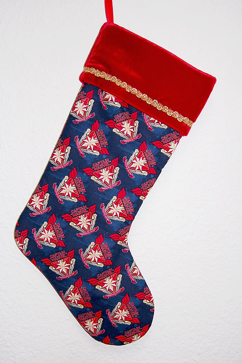 Captain Marvel Christmas stocking-made w/Licensed cotton print fabric