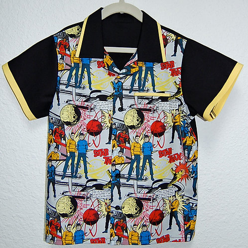 Star Travel comic child shirt (made from Licensed cotton print fabric)