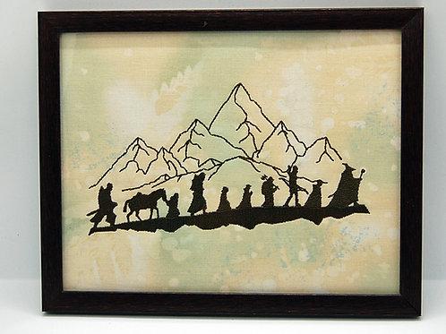 "Journey (Fellowship) - 7 x 9"" framed embroidered art"