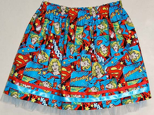 Super Girl skirt (made from Licensed cotton print fabric)
