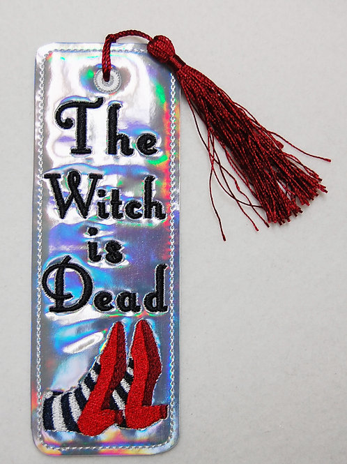 The Witch is Dead embroidered bookmark