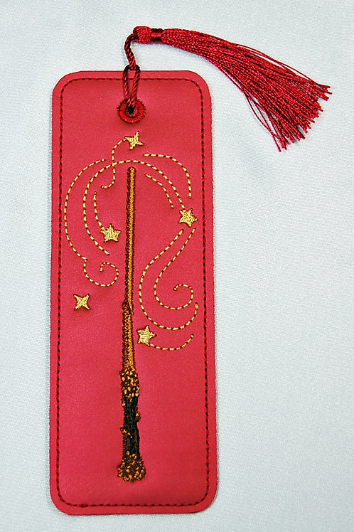 Wizard Wand (red/gold) bookmark