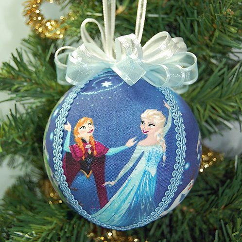 """Frozen characters ornament - 4"""" (made from Licensed cotton print fabric)"""