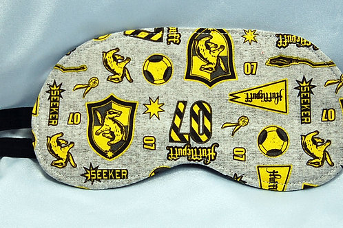 Wizard Student Badger House licensed cotton fabric sleep mask
