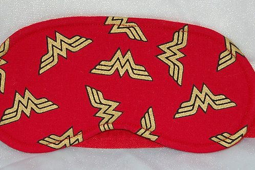 Sleep Mask made with licensed Wonder Woman (logo) cotton fabric
