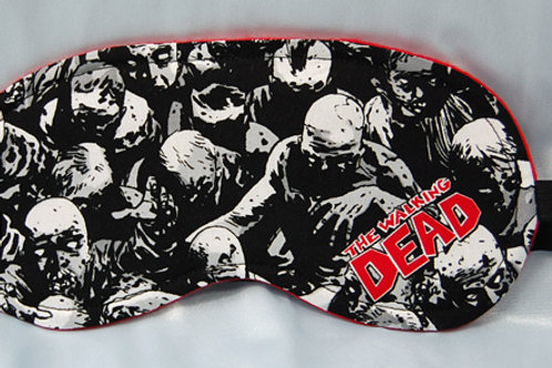 Zombies (black/red) sleep mask (made w/Licensed cotton print fabric)