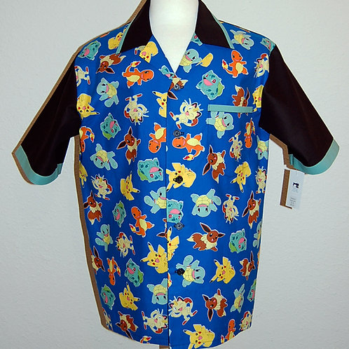 Shirt made with licensed Pokemon characters cotton print fabric