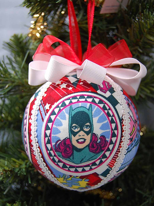 """Power Girls ornament - 4"""" (made from Licensed cotton print fabric)"""