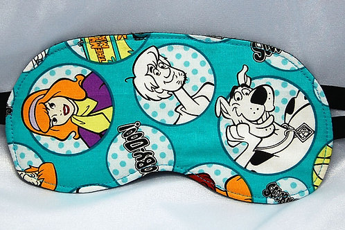 Sleep Mask made with licensed Scooby Doo cotton fabric