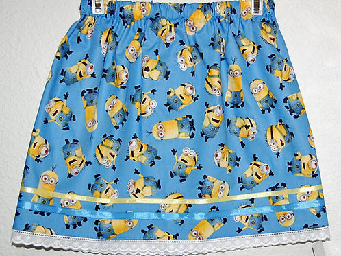 Minions skirt (made from Licensed cotton print fabric)