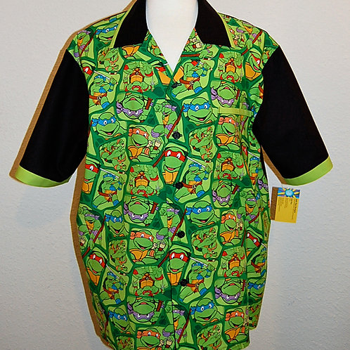 Cartoon Turtles shirt (made from licensed cotton fabric)